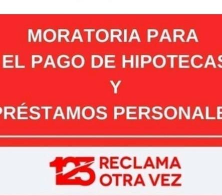 CORONAVIRUS… FIRMEMOS LA SUSPENSION DE LOS PAGOS HIPOTECARIOS …